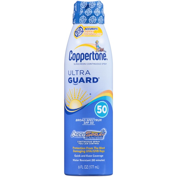 Coppertone Ultra Guard AccuSpray SPF 50 Sunscreen