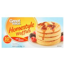 Great Value Homestyle Waffles, 10 count, 12.3 oz