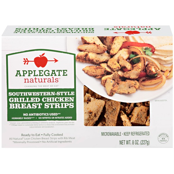 Applegate Natural Fajita-Style Grilled Chicken Strips