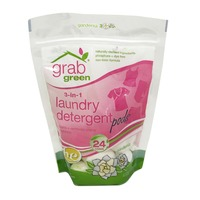 Grab Green Laundry Detergent, 3-in-1, Pods, Gardenia