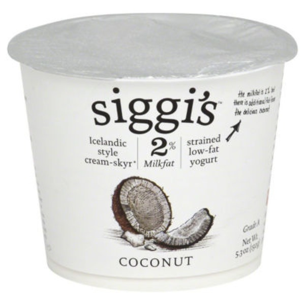 Siggi's Yogurt Strained Non-Fat Coconut