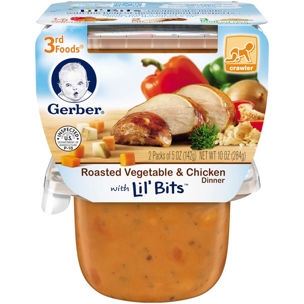 Gerber 3rd Foods Roasted Vegetable & Chicken Dinner with Lil' Bits Purees Dinner