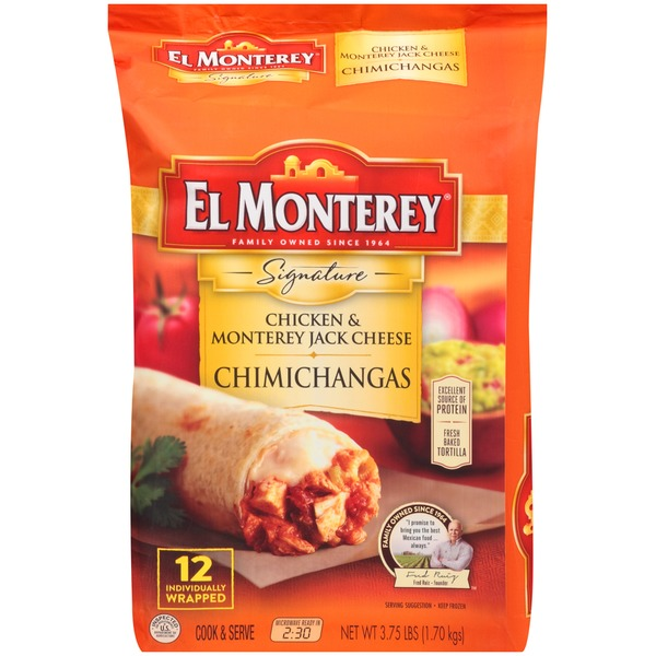 El Monterey Signature Chicken & Monterey Jack Cheese Chimichangas