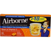 Airborne Immune Support Supplement With Herbs, Vitamins & Minerals Effervescent Tablets