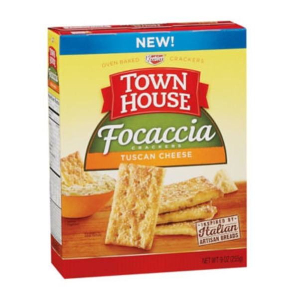 Keebler Town House Focaccia Tuscan Cheese Crackers