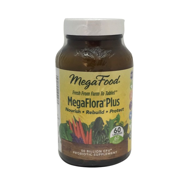 MegaFood Megaflora Plus High Potency Probiotic