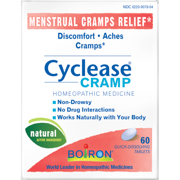 Boiron Cyclease Menstrual Cramps Homeopathic Medicine Quick-Dissolving Tablets - 60 CT