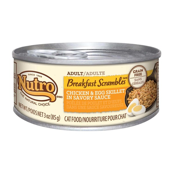 Nutro Breakfast Scrambles Adult Chicken & Egg Skillet in Savory Sauce Cat Food