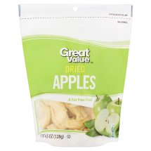 Great Value Dried Apples, 4.5 oz