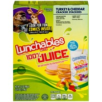 Oscar Mayer Lunchables Turkey & Cheddar Cracker Stackers with 6 fl oz Capri Sun 100% Juice Lunch Combinations