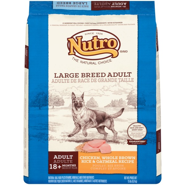Nutro Large Breed Farm-Raised Chicken, Brown Rice & Sweet Potato Recipe Adult Dog Food