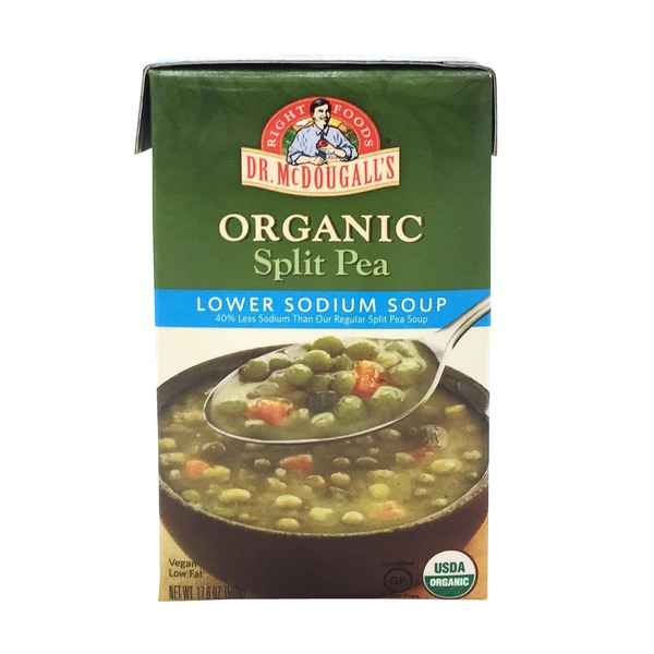 Dr McDougalls Soup, Lower Sodium, Organic, Split Pea