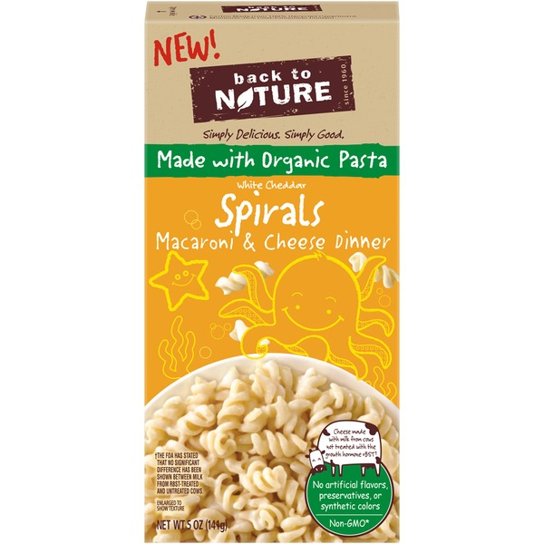 Back to Nature White Cheddar Spirals Macaroni & Cheese Dinner