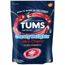 Tums® Chewy Delights® Very Cherry® Ultra Strength Antacid Soft Chews 32 ct Pouch