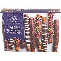 Mrs. Prindables Chocolate Dipped Caramel Pretzel Rods