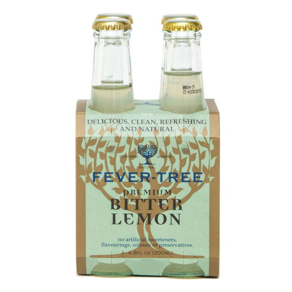 Fever-Tree Premium Natural Mixers Bitter Lemon - 4 CT