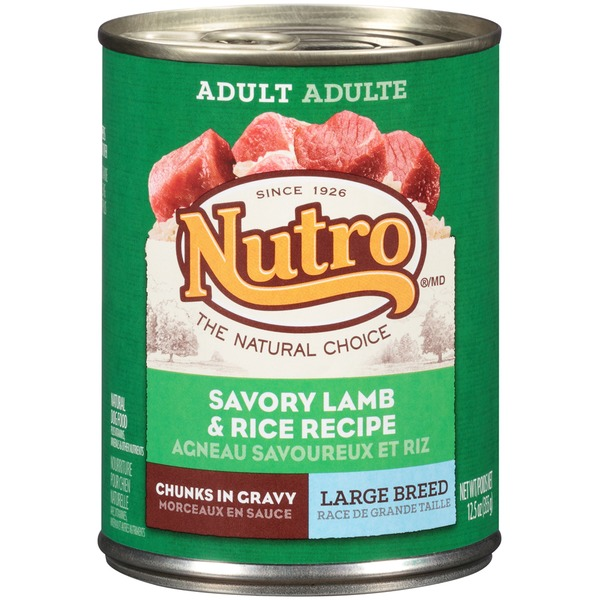 Nutro Adult Large Breed Chunks in Gravy Savory Lamb & Rice Recipe Dog Food
