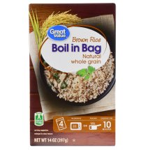 Great Value Boil in Bag Brown Rice, 14 oz, 4 Count