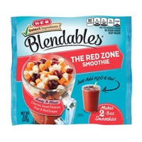 H-E-B Blendables the Red Zone Smoothie Ready to Blends Cherries, Sweet Potatoes, Pear & Red Grapes