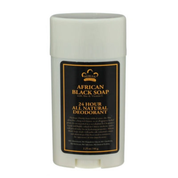 Nubian Heritage All Natural 24 Hour African Black Soap Deodorant