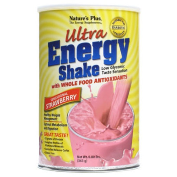 Nature's Plus Strawberry Shake Ultra Energy