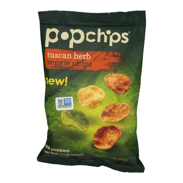 popchips Veggie Chips Tuscan Herb