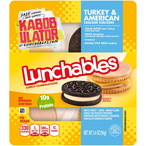 Oscar Mayer Lunchable Snack Turkey/American Cheese