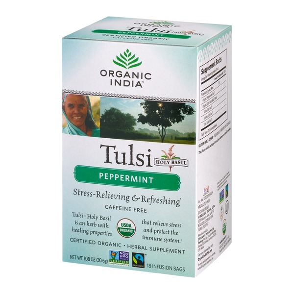 Organic India Tulsi Peppermint Infusion Bags - 18 CT