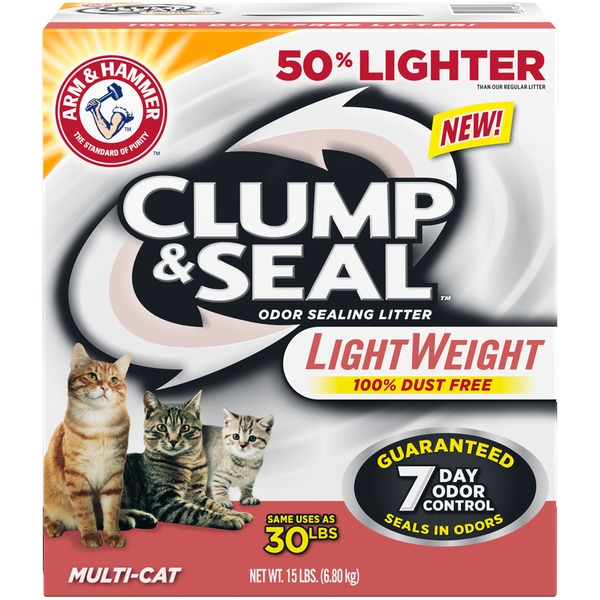 Arm & Hammer Clump & Seal Light Weight Multi-Cat Odor Sealing Cat Litter