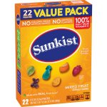 Sunkist Mixed Fruit Flavored Snacks, 22 ct, 17.6 oz, 22.0 CT