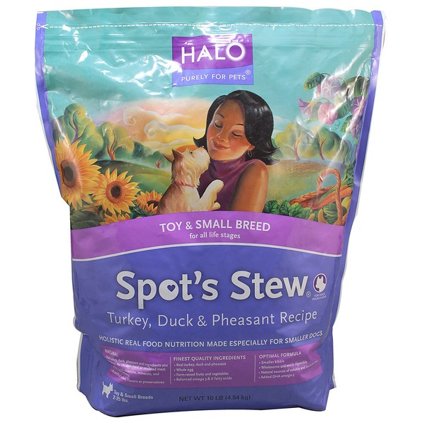 Halo Spot's Stew Turkey Duck & Pheasant Toy & Small Breed Dog Food