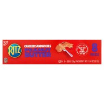Nabisco Ritz Peanut Butter Cracker Sandwiches, 1.38 oz, 8 pack