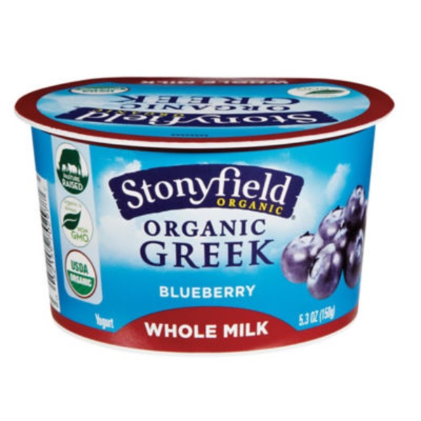 Stonyfield Organic Organic Blueberry Greek Yogurt