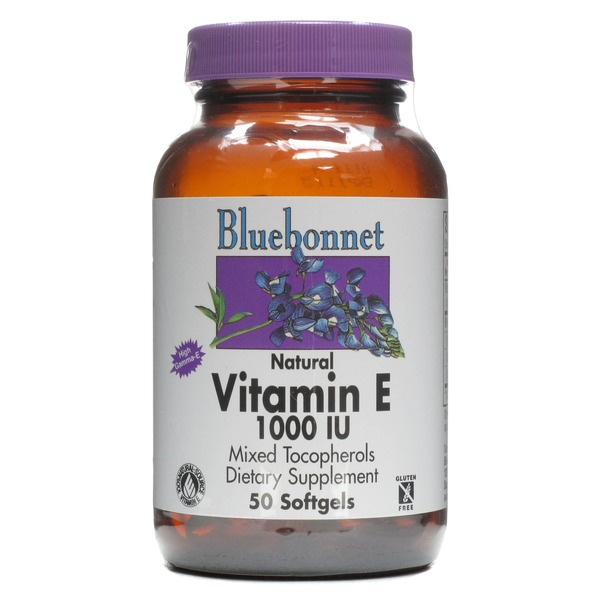 Bluebonnet Nutrition Vitamin E 1000 IU Mixed Tocopherols Dietary Supplement Softgels