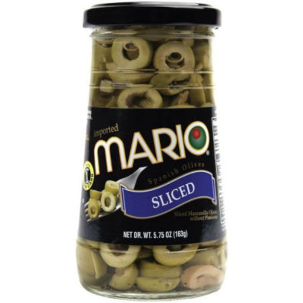 Mario Sliced Spanish Manzanilla Olives