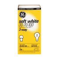 GE Soft White 30-70-100 Watts 3 -Way Light Bulbs
