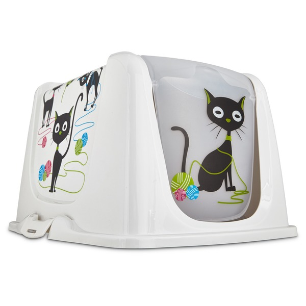 So Phresh Large Funny Cat Litter Box Privacy Hood