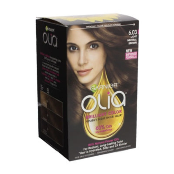 Olia™ 6.03 Light Neutral Brown Oil Powered Permanent Color