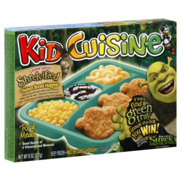 Kid Cuisine Real Meals Shrekified Chicken Breast Nuggets