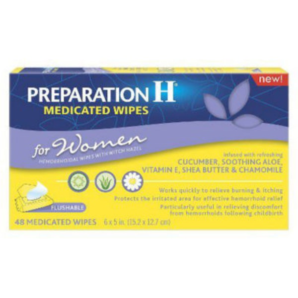 Preparation H for Women Medicated Wipes