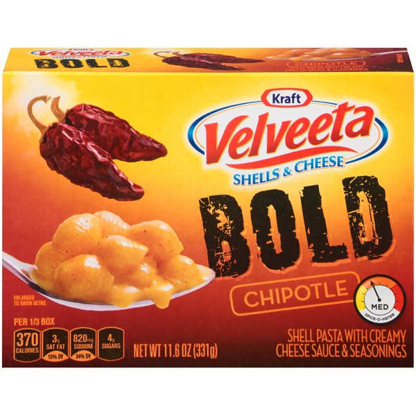 Kraft Dinners Velveeta Bold Chipotle Shells & Cheese