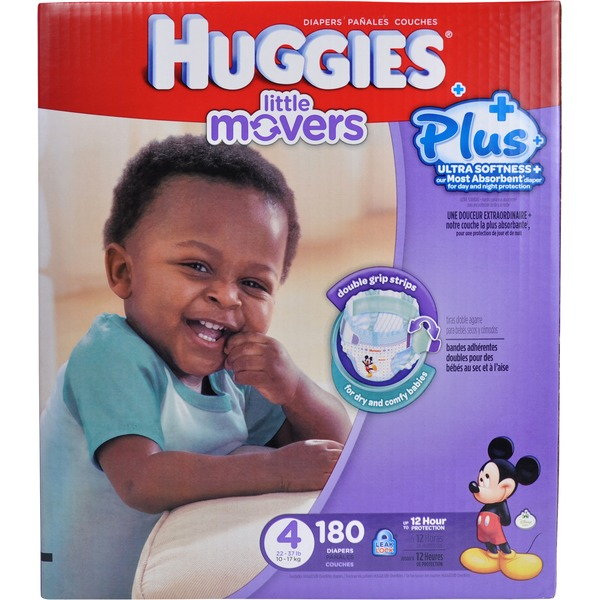 Huggies Little Movers Plus Size 4