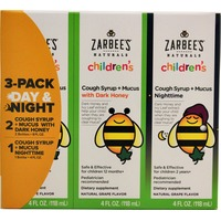 Zarbee's Naturals Children's Cough/Mucus Syrup Day/Night Combo 12 Oz