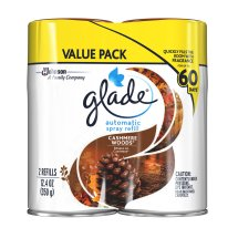 Glade Automatic Spray, Cashmere Woods, 12.4 oz. (Pack of 2)