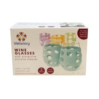 Lifefactory Wine Glasses with Protective Silicone Sleeves