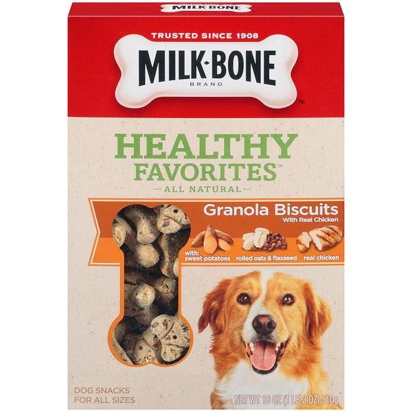 Milk-Bone Healthy Favorites Granola with Real Chicken Dog Biscuits
