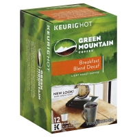 Green Mountain Coffee K-Cup Pods Light Roast Breakfast Blend Decaffeinated - 12