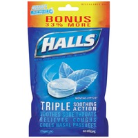 Halls Mentho-Lyptus Menthol Drops Cough Suppressant/Oral Anesthetic