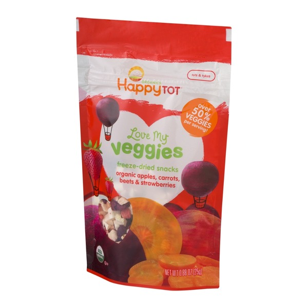 Happy Tot Organics Love My Veggies Apples, Carrots, Beets & Strawberries
