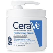 CeraVe Moisturizing Cream with Pump, Body Cream for Dry Skin, 16 oz.